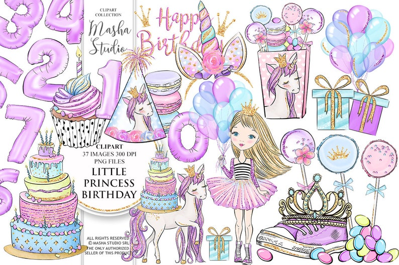 5fe8b6307cf6 Birthday Clipart Princess Party Clipart Little Princess