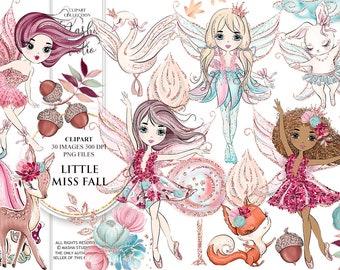 Little Miss Fall Clipart Fairy Clipart Fall Clipart Fox Clipart Swan Clipart Deer Clipart Forest Fairy Clipart Fairies Clipart Planners