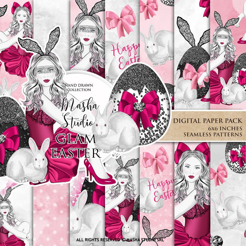 image relating to Planner Supplies named Glam Easter Electronic Papers, Model Woman Planner Products, Easter Backgrounds, Planner Woman Stickers, Easter Practice, Seamless Behavior