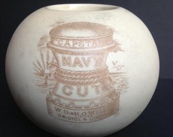 Antique Ceramic Capstan Match Holder