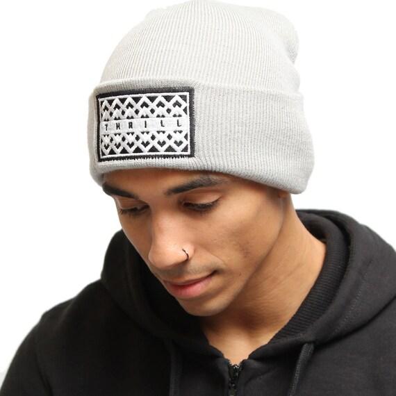 6c95915b829 THRILL Beanie. Embroidered Hat Winter Essential Winter Hat