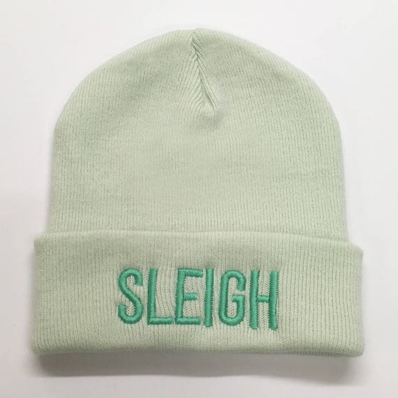 daa020d2a41 SLEIGH Beanie. Embroidered Hat Winter Essential Cute