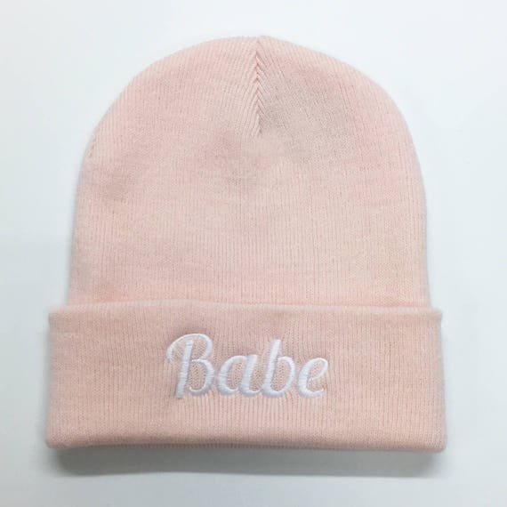 1f94c154b6a Babe Beanie. Embroidered Hat Winter Essential Cute Fashion