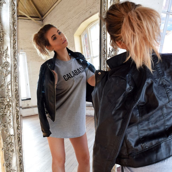 Signature Oversized T-Shirt Dress TWSTDST TUMBLR Fashion Slogan Casual Gifts