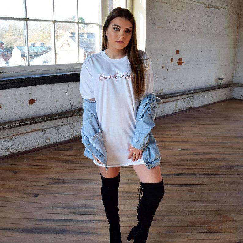 d888b509 Beverly Hills Oversized T-Shirt Dress. America LA TUMBLR | Etsy