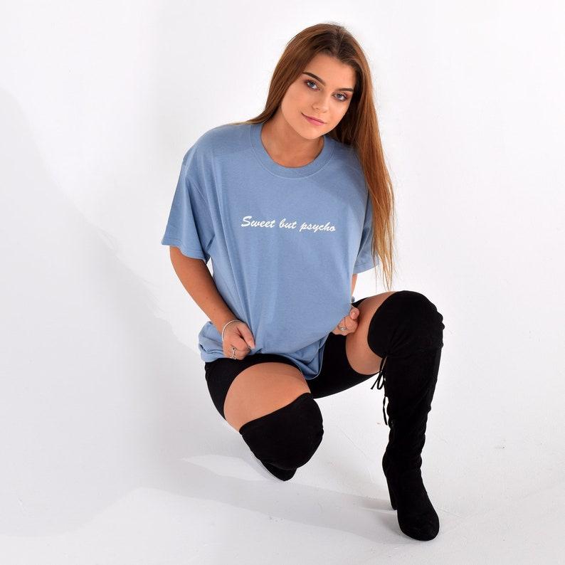 ba7581aa Sweet but Psycho Oversized T-Shirt Dress. Fashion Slogan | Etsy