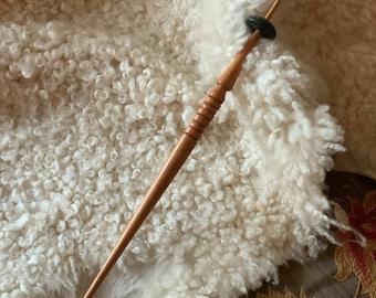 High Whorl Spindle Stick, Osage Orange