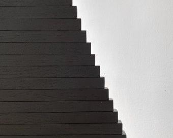 Wooden Christmas Tree / LARGE YELKA / Black edition / 4,9feet-150cm / minimalist, sustainable, ecological