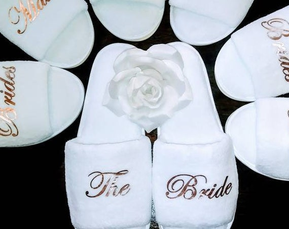 DIY Bridesmaid Slippers - Personalized Slippers - Bride Slippers - Hen Slippers - Do It Yourself Project
