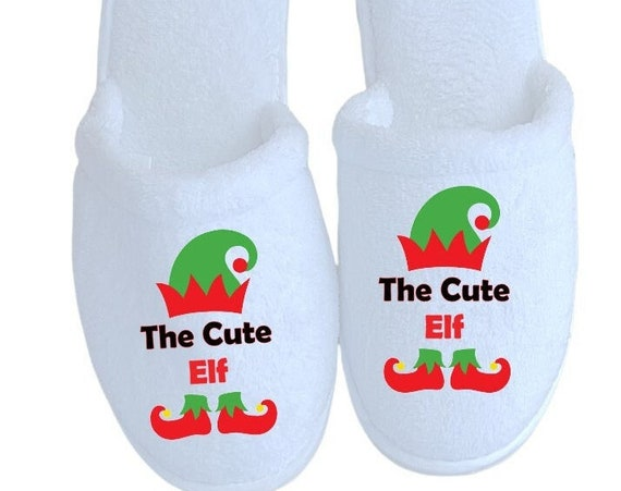 Elf Christmas Slippers - Personalized Slippers - Elves - Match those Christmas Pajamas - Family Slippers - Christmas Gifts