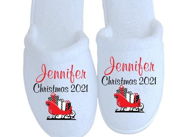 Personalized Slippers -Christmas Gifts - Slippers - Customized slippers - Corporate Gifts - Family Christmas Slippers
