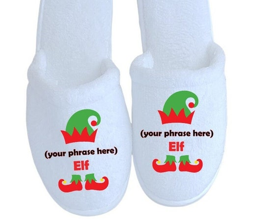 Christmas Elf Slippers - Personalized Slippers - Elves - Match those Christmas Pajamas - Family Slippers - Christmas Gifts