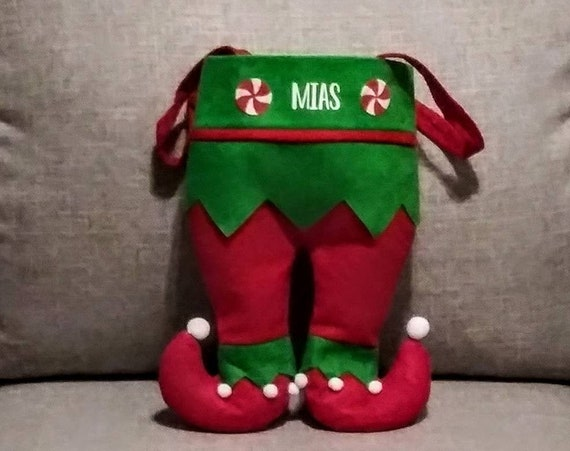 Personalized Elf Pants, Elf Legs, Christmas Stockings, Elf Stockings, Kids Stockings