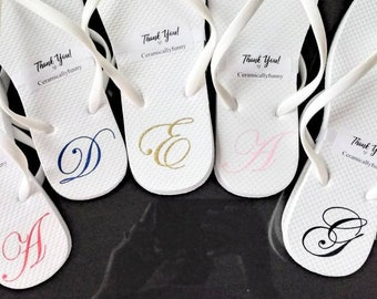 d949aba5ea6 Monogrammed Flip Flops - Bridesmaid Slippers - Bridesmaid Flip Flops -  Bridesmaid Gifts - Personalized Flip Flops Mothers Day Gift