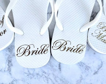 a3e5ba9c8c32 Bridesmaid Slippers - Bridesmaid Flip Flops - Bride Slippers - Bridesmaid  Gifts - Personalized Flip Flops - Bridal Party Gifts