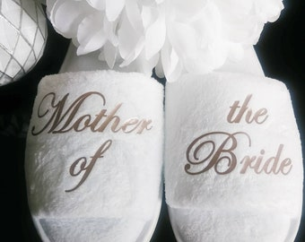 daba248b35090 Bride Slippers - Personalized Slippers - Bridemaid Slippers - Slippers -  Hen Slippers - Mother of the Bride - Other titles available