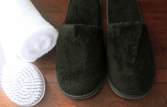 Black Spa Slippers