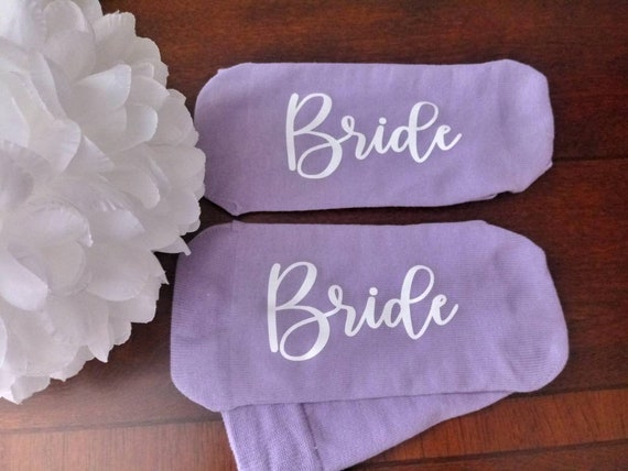 Bridesmaid Socks - Bride Socks - Wedding Party - casual crew socks! Customizable! Great for photos! Many Colors Available