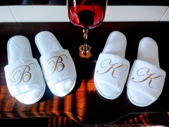 Monogrammed Slippers, Personalized, Girls Trip, Cruises, Birthday Bash, Bachelorette Party, Bridal Shower, Corporate Gift, Anniversary