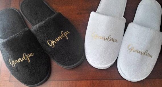 Grandpa and Grandma Christmas Gifts - Grandpa Slippers - Grandma Slippers - Gift for Grandparents - Slippers for men and women