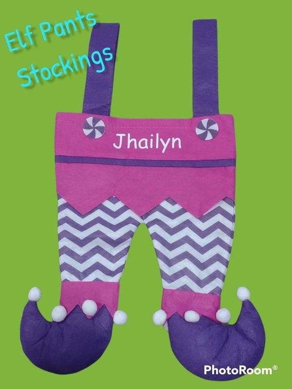 Elf Pants, Elf Legs, Christmas Stockings, Elf Stockings, Kids Stockings, Personalized Stockings