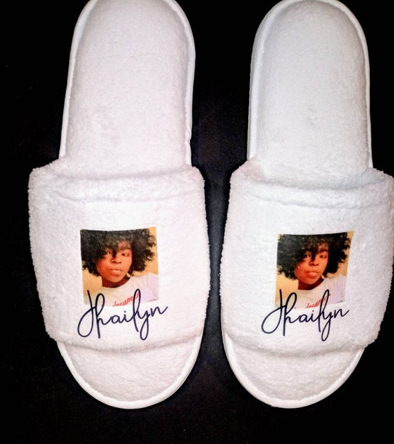 Picture Slippers - Personalized Slippers- Bridesmaid Slippers - Slippers - Customized slippers - Personalised Slipper