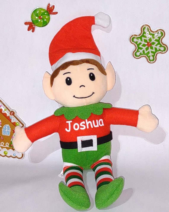 Personalized Christmas Elves - Stuffed Elf - Stocking Stuffer - Christmas Decoration - Multicultural Available