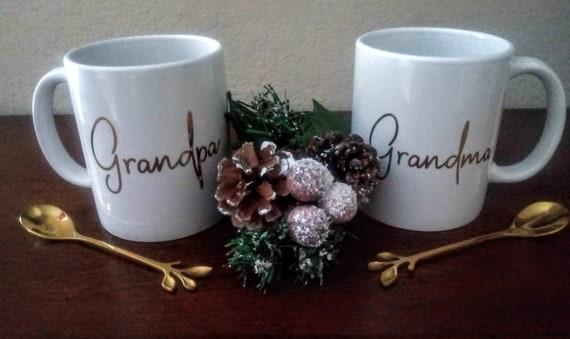 Coffee Mug - Christmas Mug - Grandpa Mug - Grandma Mug - Mug Set - Personalized Mugs - Custonmized Mugs