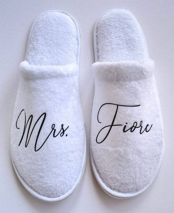 Mrs. Slippers, Bridal Shower, Wedding Gift, Bridesmaids, Birthday Bash, Anniversary, Engagement Present, Bachelorette Party, Bride Gift