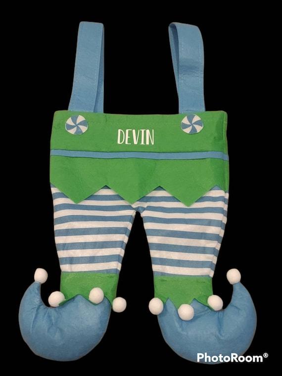 Elf Stockings, Elf Legs, Personalized Christmas Stockings, Elf Pants, Kids Stockings,