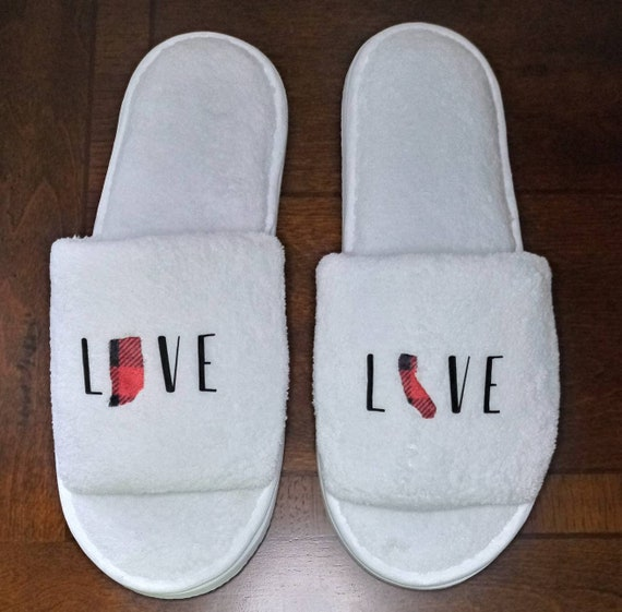 Personalized Slippers- Bridesmaid Slippers - Slippers - Customized slippers - Personalised Slipper - Valentine's Gift for him or her
