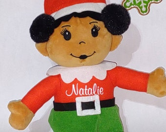 Christmas Decoration - Elves - Personalized Elf - Personalized Christmas Elves - Stuffed Elf - Stocking Stuffer - Multicultural
