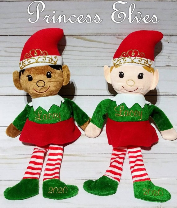 Personalized Christmas Elf - Personalized Elves - Stuffed Elf - Stocking Stuffer - Princess Elf