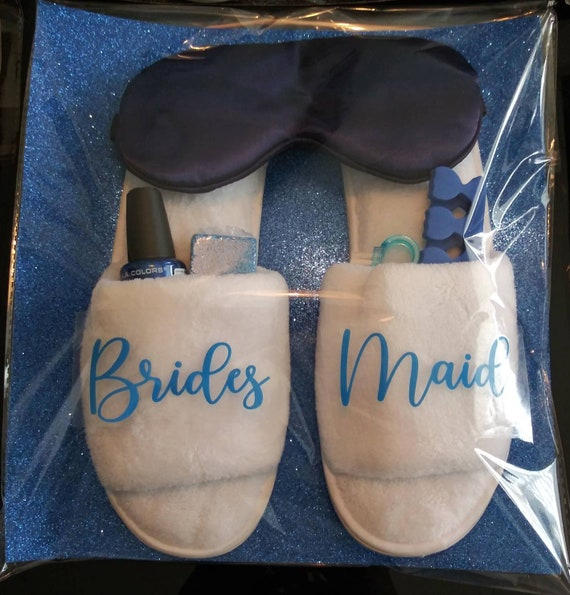 Bridesmaid Slippers - Spa Pack - Bridal Party - Bridesmaid Gifts - Spa Day - Girls' Trip -