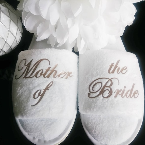 Bride Slippers - Personalized Slippers - Bridemaid Slippers - Slippers - Hen Slippers - Mother of the Bride - Other titles available