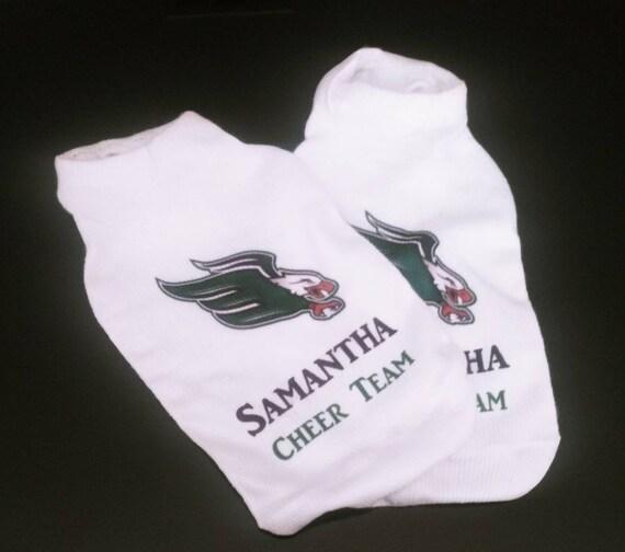 Cheer Team Socks -Sports Socks- Personalized Socks - Custom Socks - School Mascot