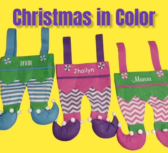 Personalized Elf Pants, Elf Legs, Christmas Stockings, Elf Stockings, Kids Stockings