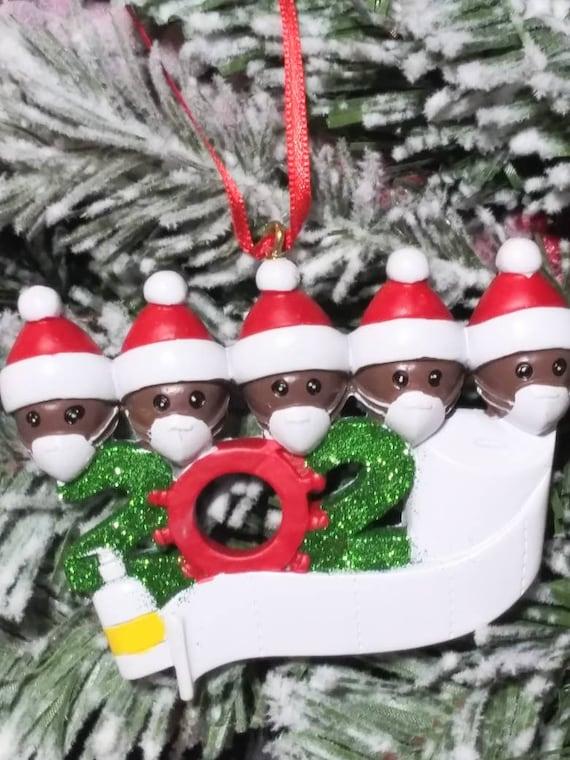 Christmas Ornaments 2020 - DIY Ornaments - Quarantine Keepsake - Funny Christmas Ornament Family of 2 - 7 available No Personalization
