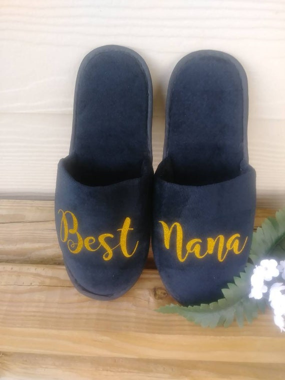 Best Nana Slippers - Best Nana Ever - Personalized Slippers - Best Mom Slippers