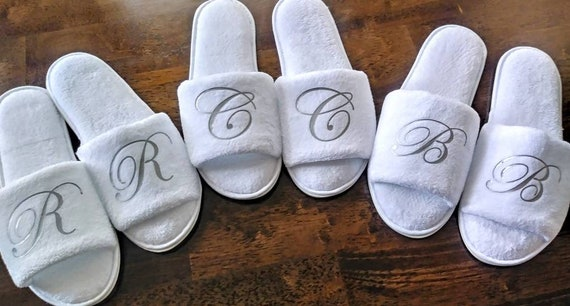 Personalized Slippers- Monogrammed Slippers - Custom Slippers - Bridesmaid Gift - Slippers - Girls Trip - Bridesmaid Initials