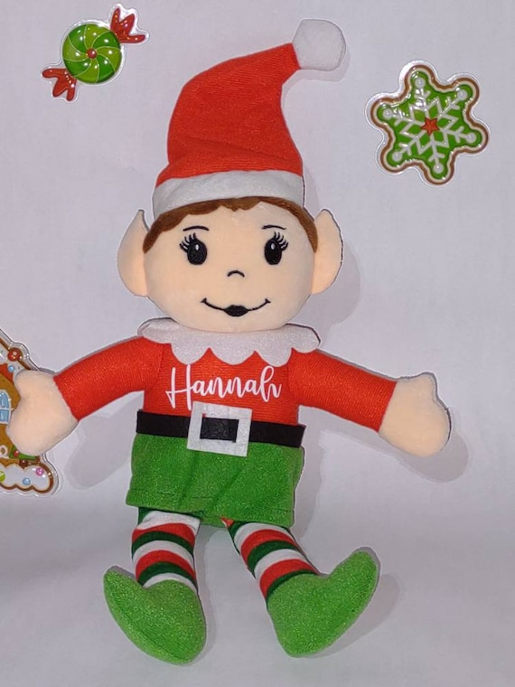 Personalized Elf - Christmas 2021 - Christmas Elves - Stuffed Elf - Stocking Stuffer - Christmas Decoration - Multicultural Available