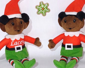 Elves - Personalized Elf - Personalized Christmas Elves - Stuffed Elf - Stocking Stuffer - Christmas Decoration - Multicultural