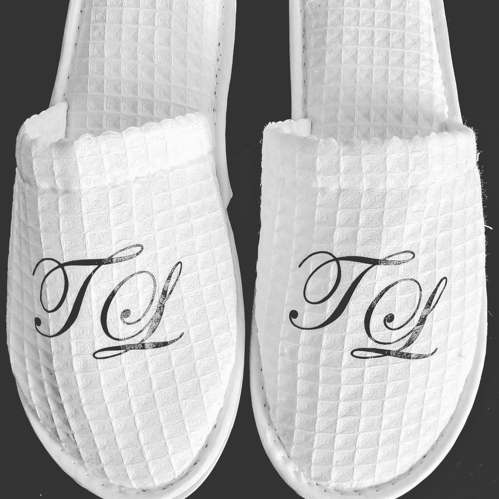 54820140b8f54 Personalized Waffle Slippers- Monogrammed Slippers - Custom Slippers ...