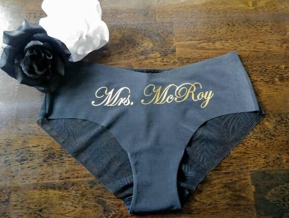 d28aecd0797507 Bridal Underwear Personalized Panties Wedding Gift