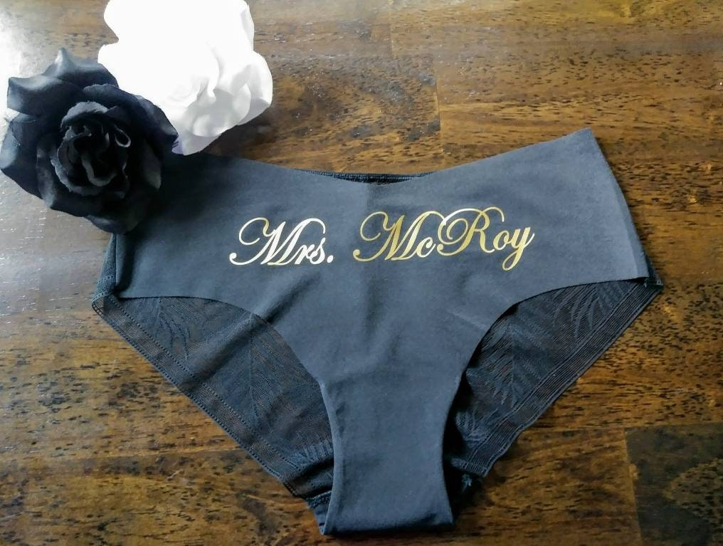 bridal underwear personalized panties wedding gift bridal shower gift bride panties engagement party bvs