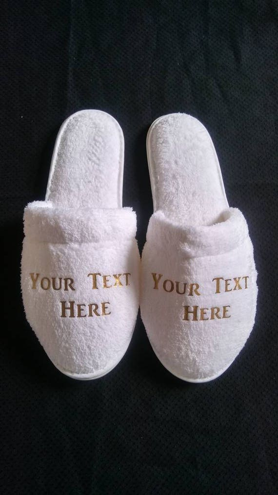 Personalized Slippers - Birthday Slippers - Custom Slippers  - Slippers with Names - Bridesmaid Slippers - Corporate Gifts - Cruises - Cheer