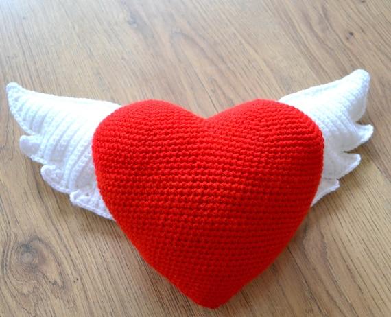 Winged Heart Crochet Pattern Heart For Mom Crochet Heart Etsy