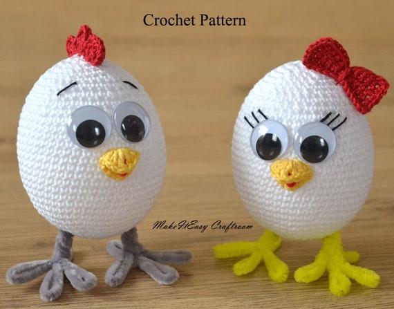 Crochet Chicken Pattern Pdf Baby Chick Amigurumi Toy Crochet Etsy