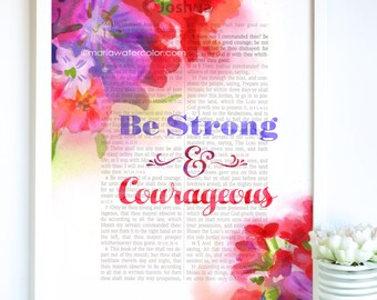 Be Strong, Bible Print, Page