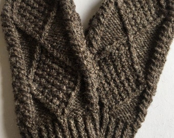 Gents Natural Blacksheep Adult Aran Hand Knit Mittens | Men's Traditional Mitts | Traditional Irish Mittens | Irish Hand-knit Mitts